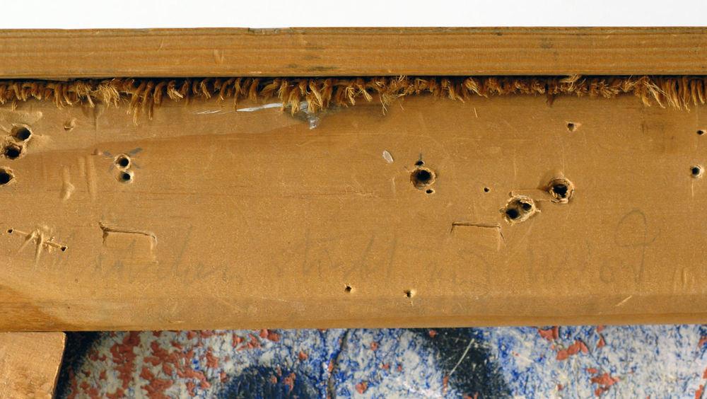 Abb. 5: Glas-Fassade, rückseitige Inschrift: »Mädchen stirbt und wird«,Fotograf: Patrizia Zeppetella © Zentrum Paul Klee, Bern, Bildarchiv