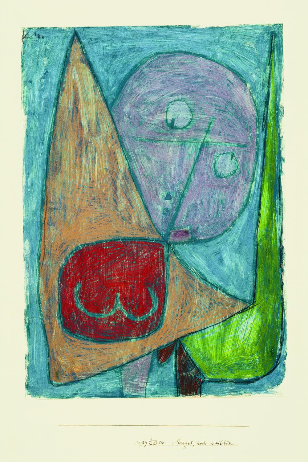 Abb. 10: Paul Klee,Engel, noch weiblich, 1939, 1016,Kreide auf Grundierung auf Papier auf Karton,41,7 x 29,4 cm,Zentrum Paul Klee, Bern © Zentrum Paul Klee, Bern, Bildarchiv