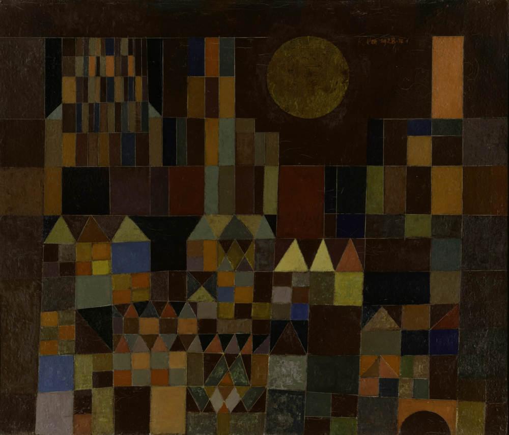 Abb. 19:Paul Klee,Burg und Sonne, 1928, 201,Ölfarbe auf Leinwand 50 x 59 cm,Privatbesitz © Zentrum Paul Klee, Bern, Bildarchiv