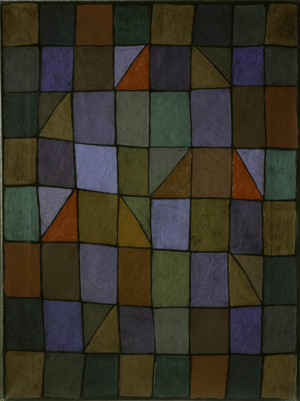 Abb. 20:Paul Klee,Abend in N, 1937, 138,Ölfarbe auf Nesseltuch,60 x 45 cm,Privatbesitz, Schweiz/Deutschland © Zentrum Paul Klee, Bern, Bildarchiv