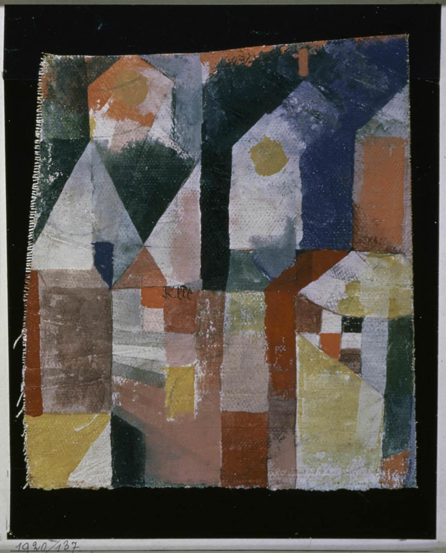 Paul Klee ähnlich 1920/136, 1920, 137,Aquarell auf Grundierung auf Leinen auf Papier auf Karton,20 x 15,2 cm,Standort unbekannt © Zentrum Paul Klee, Bern, Bildarchiv