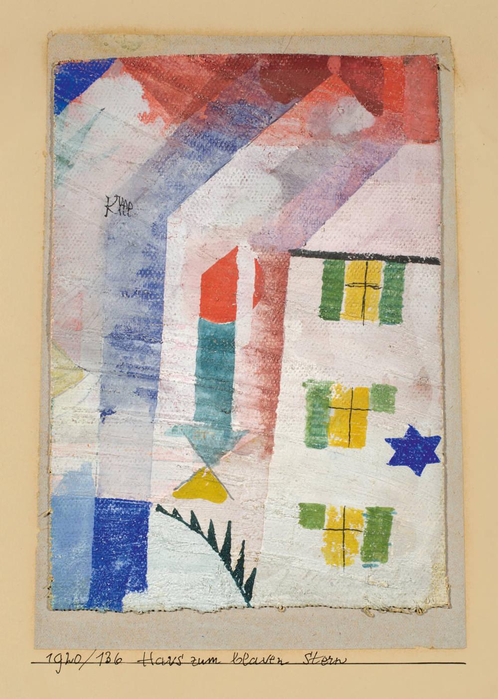 Paul Klee Das Haus zum blauen Stern, 1920, 136,Aquarell auf Grundierung auf Leinen auf Papier auf Karton,17.5 x 12.5 cm,Privatbesitz © Villa Grisebach Auktionen GmbH, Berlin
