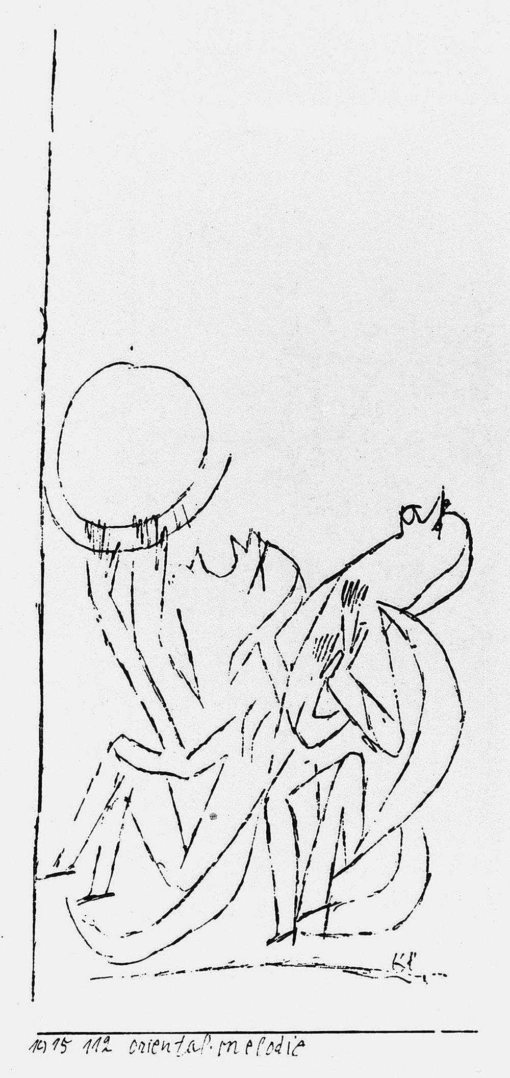 Abb.43 Paul Klee, oriental. Melodie, 1915, 112 , Feder auf Papier auf Karton Standort unbekannt