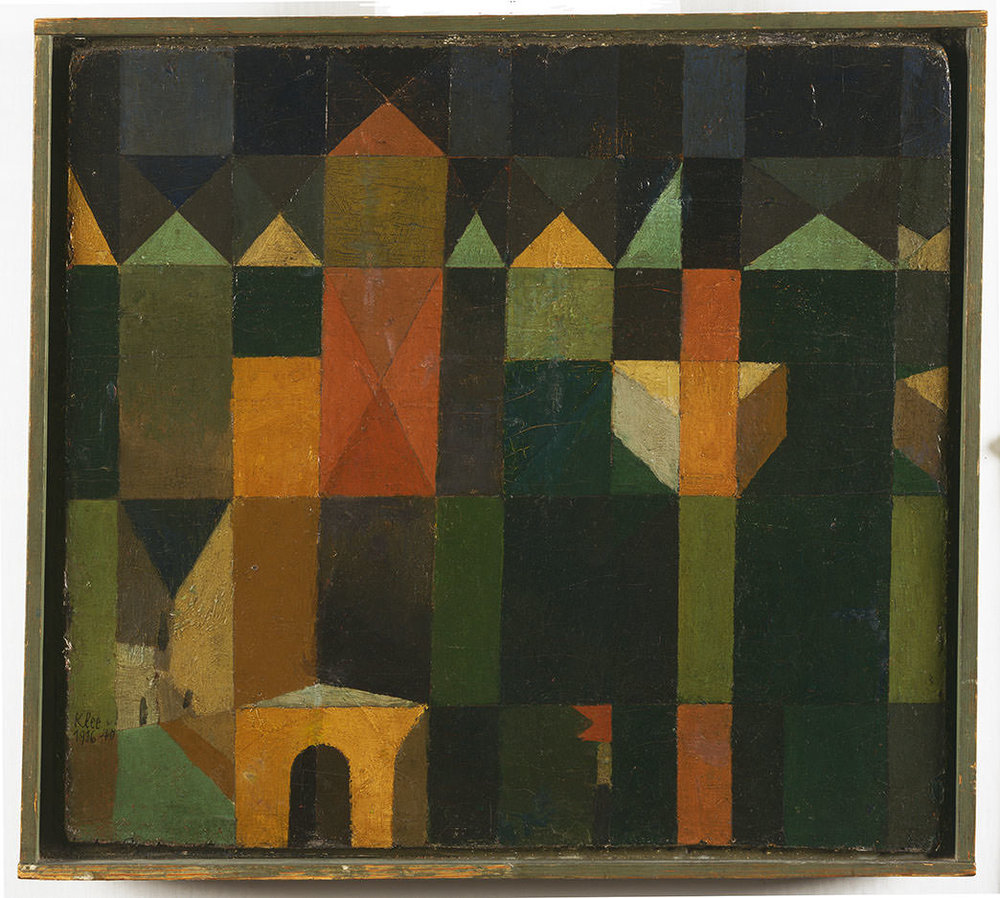 Abb. 52 Paul Klee, Stadt der Türme, 1916, 40 , Ölfarbe auf Karton , 32,5 x 35,5 cm , Philadelphia Museum of Art, The Louise and Walter Arensberg Collection ©Courtesy of the Philadelphia Museum of Art