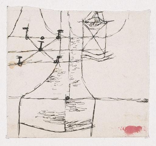 Abb.57 Paul Klee, Ohne Titel, 1916 , Feder auf Papier, 7,1 x 7,8 cm , Privatbesitz Schweiz, Depositum im Zentrum Paul Klee, Bern © Zentrum Paul Klee, Bern, Bildarchiv
