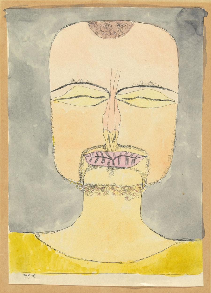 Abb. 6 Paul Klee   nach der Zeichnung 19/75 , 1919, 113, aquarellierte Lithographie, 1. Zustand, 22,2 x 16 cm, Zentrum Paul Klee, Schenkung Livia Klee ©Zentrum Paul Klee, Bern, Bildarchiv