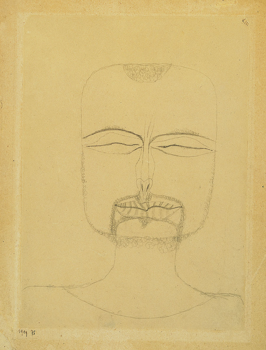 Abb. 5 Paul Klee  Versunkenheit , 1919, 75, Bleistift auf Papier auf Karton, 27 x 19,5 cm, Norton Simon Museum of Art, Passadena © Norton Simon Museum of Art, Passadena