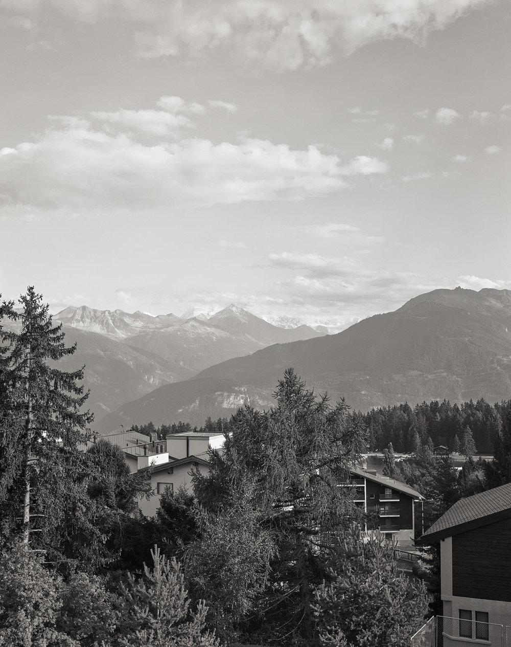 Blick von Montana auf Sierre und das Val d'Annivier, 2005, Fotograf: Dominique Uldry ©Bern: Dominique Uldry