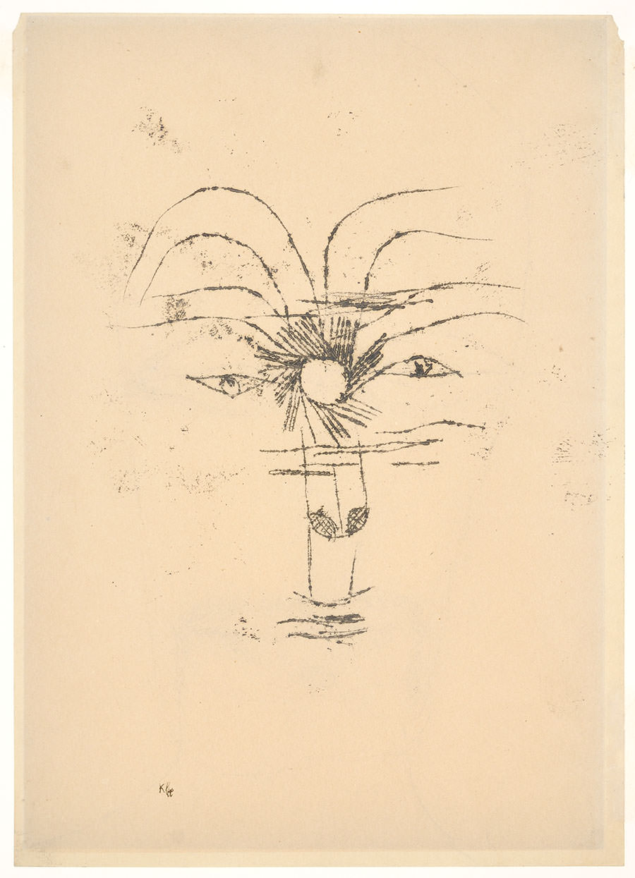 Paul Klee   Mister Sol , 1919, 78, Ölpause auf Papier, 27,2 x 19,6 cm, Privatbesitz ©Zentrum Paul Klee, Bern, Archiv