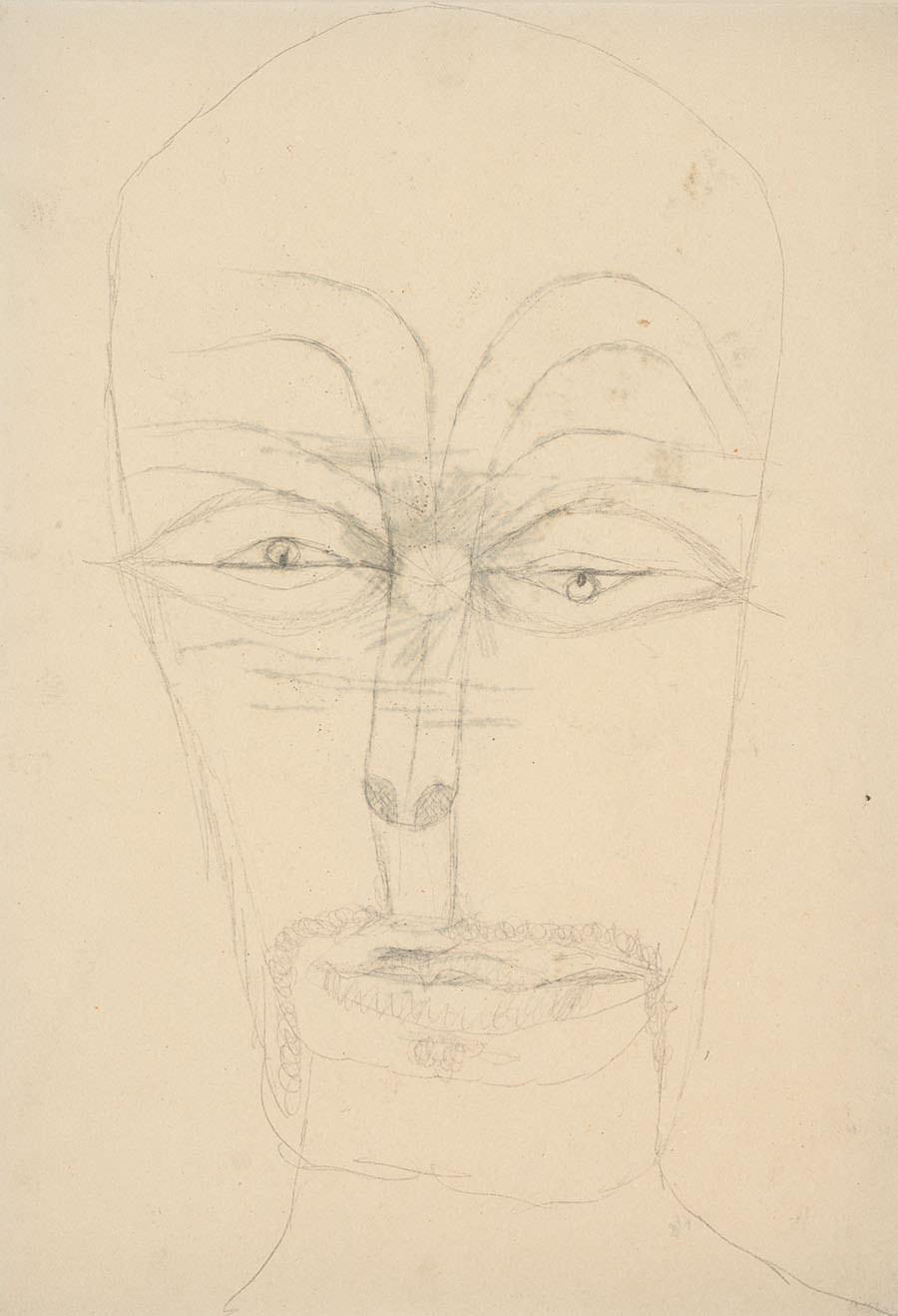 Paul Klee  Ohne Titel (Rückseite von  Mister Sol ), 1919, Bleistift auf Papier, 27,2 x 19,6 cm, Privatbesitz ©Zentrum Paul Klee, Bern, Archiv
