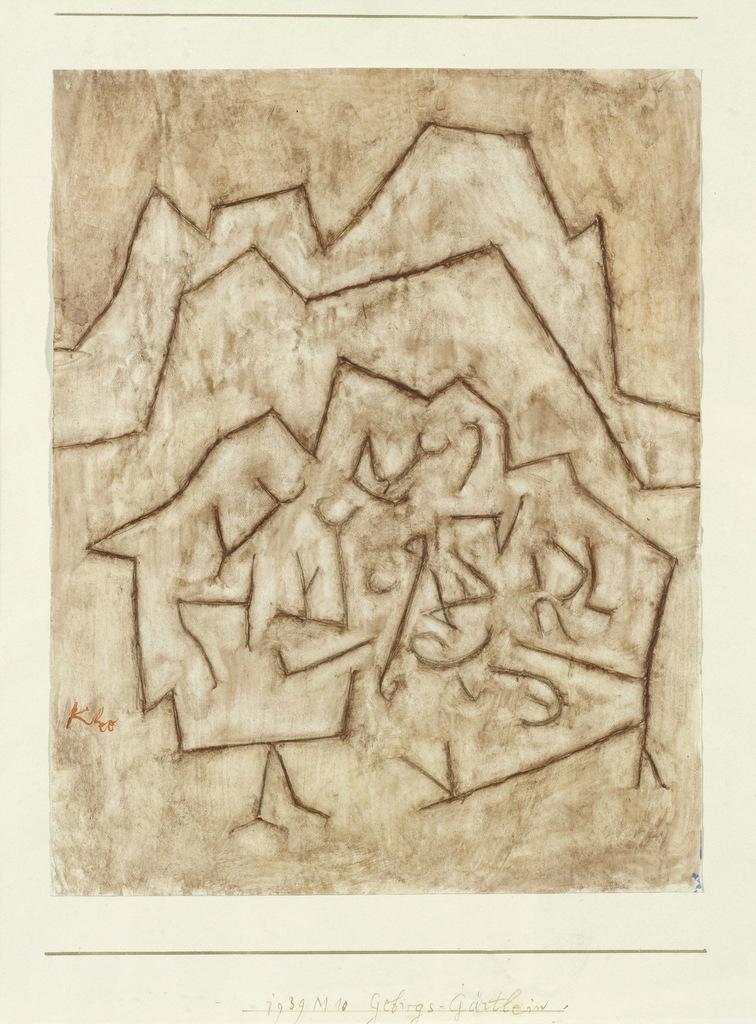 Abb. 18  Paul Klee, Gebirgs-Gärtlein, 1939,130, Aquarell auf Kreidegrundierung auf Papier auf Karton, 26,5 x 21 cm. Privatbe-sitz, Schweiz.  © Zentrum Paul Klee, Bern, Bildarchiv.