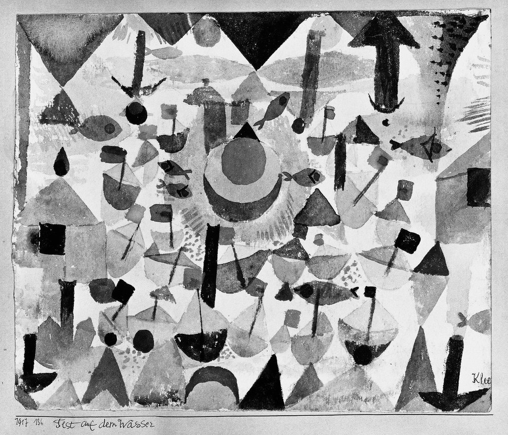 fig. 5 Paul Klee,  Fest auf dem Wasser  [Water Festival], 1917, 136, watercolour and pencil on paper on cardboard, 20,5 x 24,5 cm, Location unknown, ©Zentrum Paul Klee, Bern, Bildarchiv