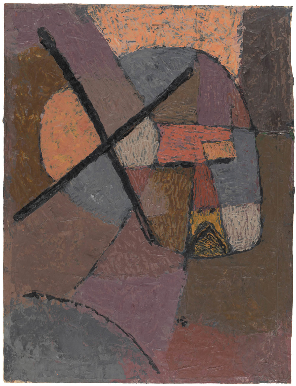 Abb.1  Paul Klee   von der Liste gestrichen , 1933, 424 (G 4), Ölfarbe auf Papier auf Karton , 31,5 x 24 cm, Zentrum Paul Klee, Bern, Schenkung Livia Klee  © Zentrum Paul Klee, Bern, Bildarchiv