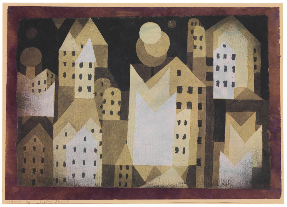 Abb. 5   Paul Klee   Kalte Stadt , 1921, 66, Aquarell auf Papier auf zweitem Papier auf Karton, 21 x 29,5 cm, The Metropolitan Museum of Art, New York, The Berggruen Klee Collection  © The Metropolitan Museum of Art, New York, The Berggruen Klee Collection