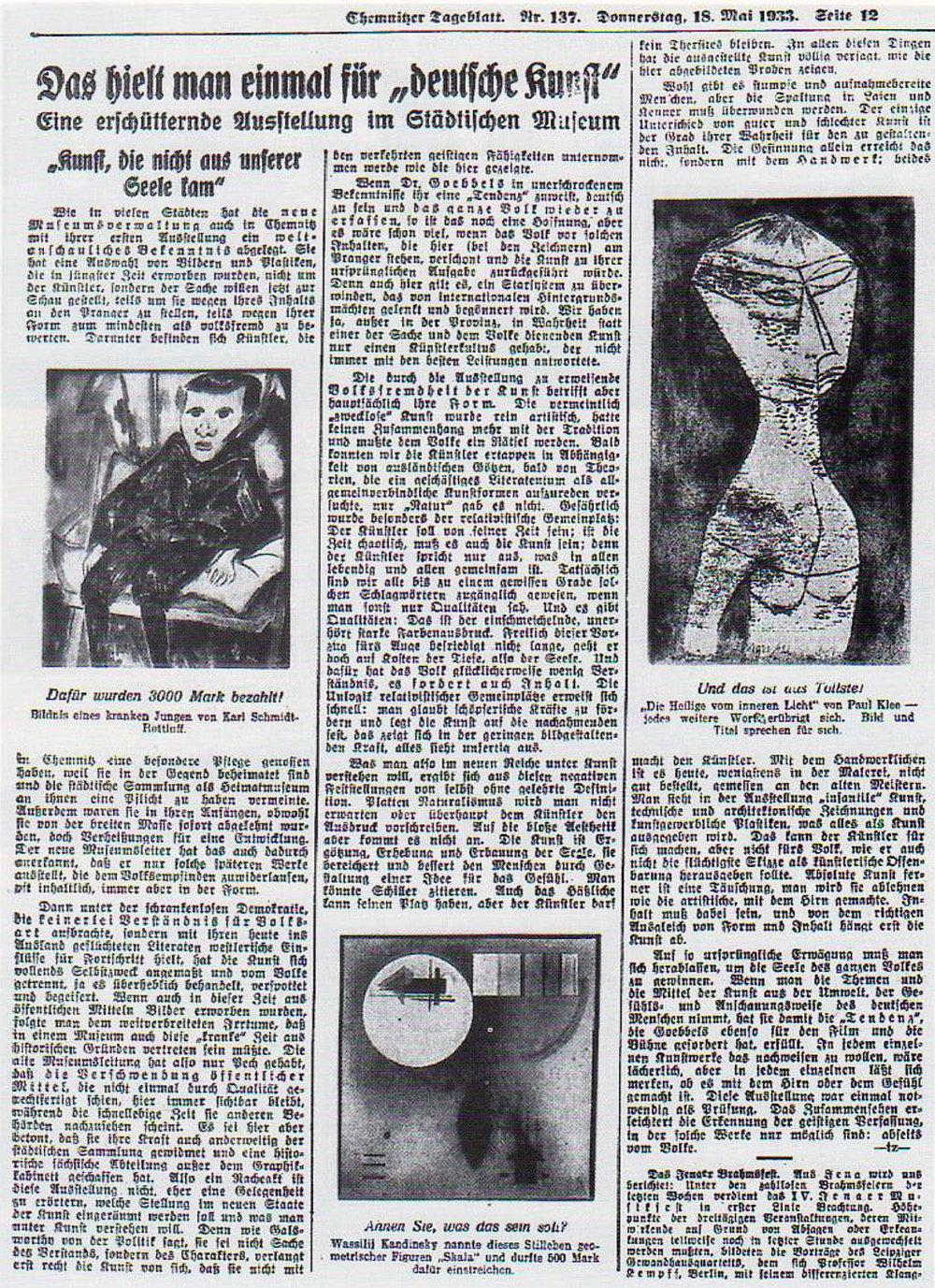 Abb. 8  Artikel aus dem Chemnitzer Tageblatt vom 18. Mai 1933
