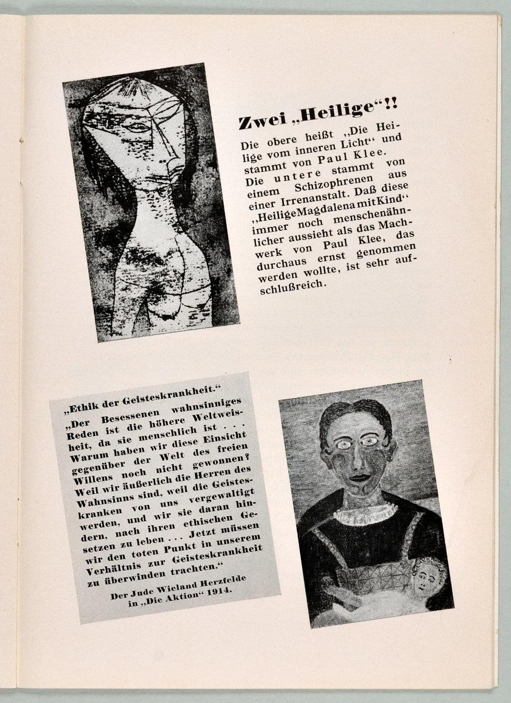 Abb. 17  Ausstellungsführer »Entartete Kunst«, Seite 25  © Zentrum Paul Klee, Bildarchiv