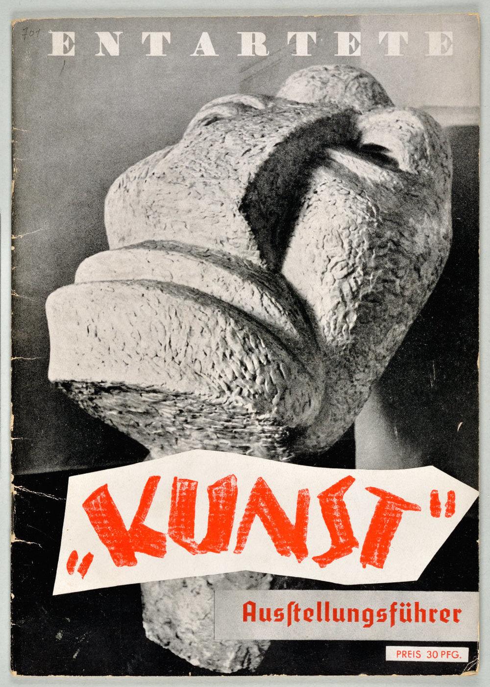 Abb. 16  Umschlag des Ausstellungsführers »Entartete Kunst«  © Zentrum Paul Klee, Bildarchiv