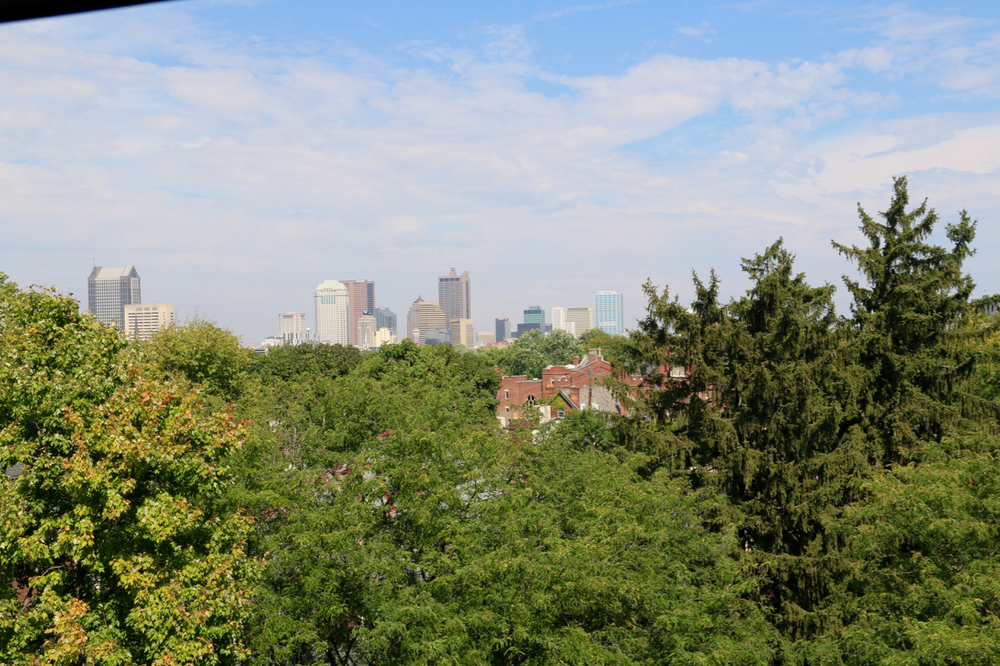 Barrett has panoramic views of Downtown Columbus