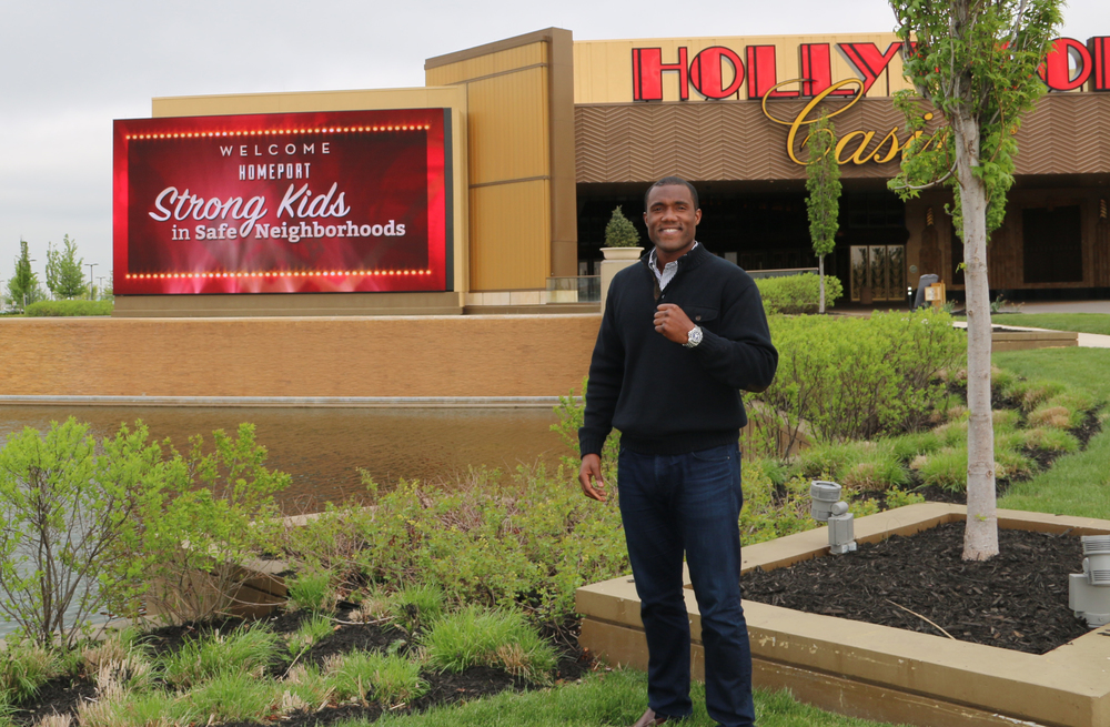 George Foreman III outside Hollywood Casino Columbus
