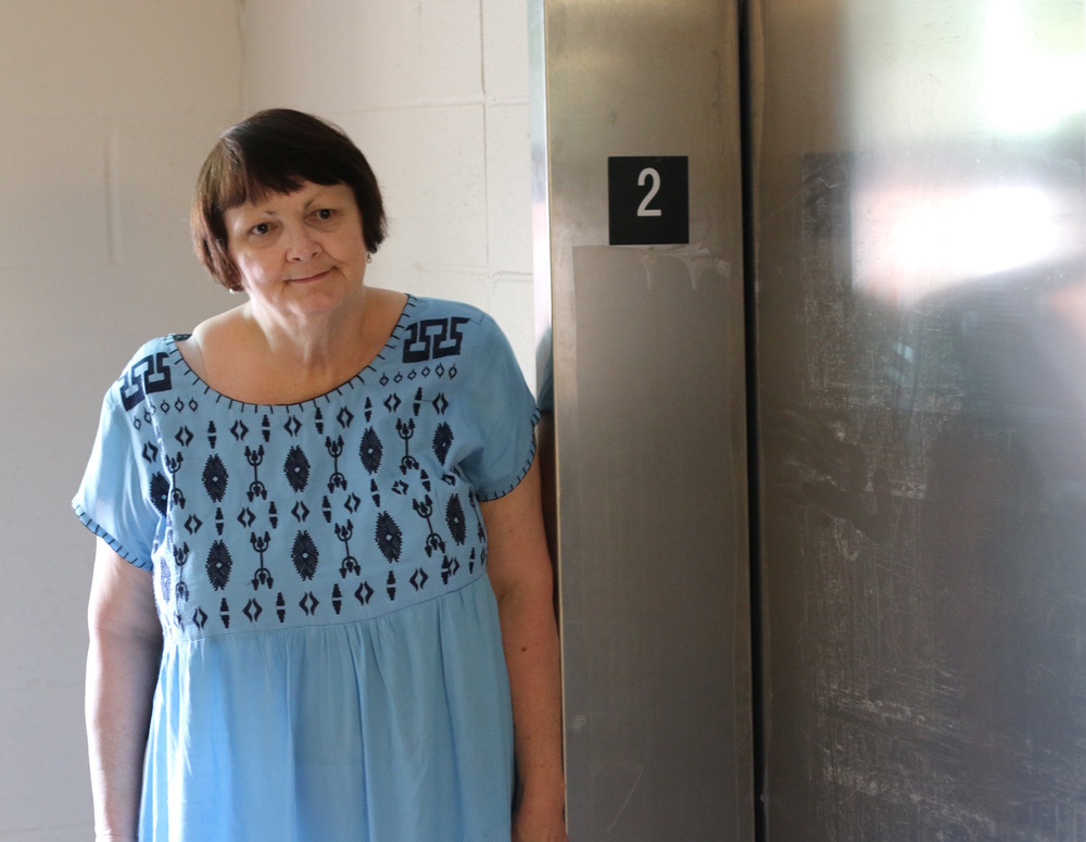 An elevator was a major addition for Linda Bettac and other residents at 1379 N. High Street