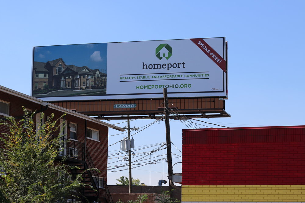 Billboard provided by Ohio Department of Health at East Broad Street and Weyant Avenue.
