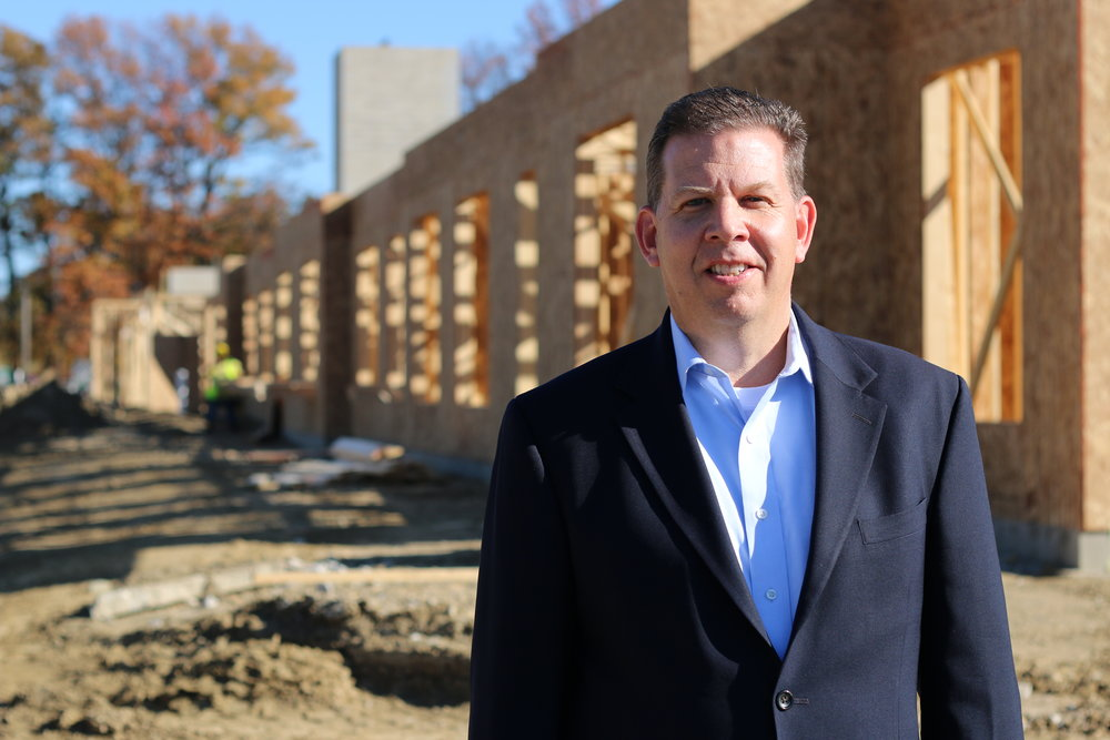 Ji  m Baugh at Homeport's 'Hamilton Crossing' senior housing under construction in Whitehall.