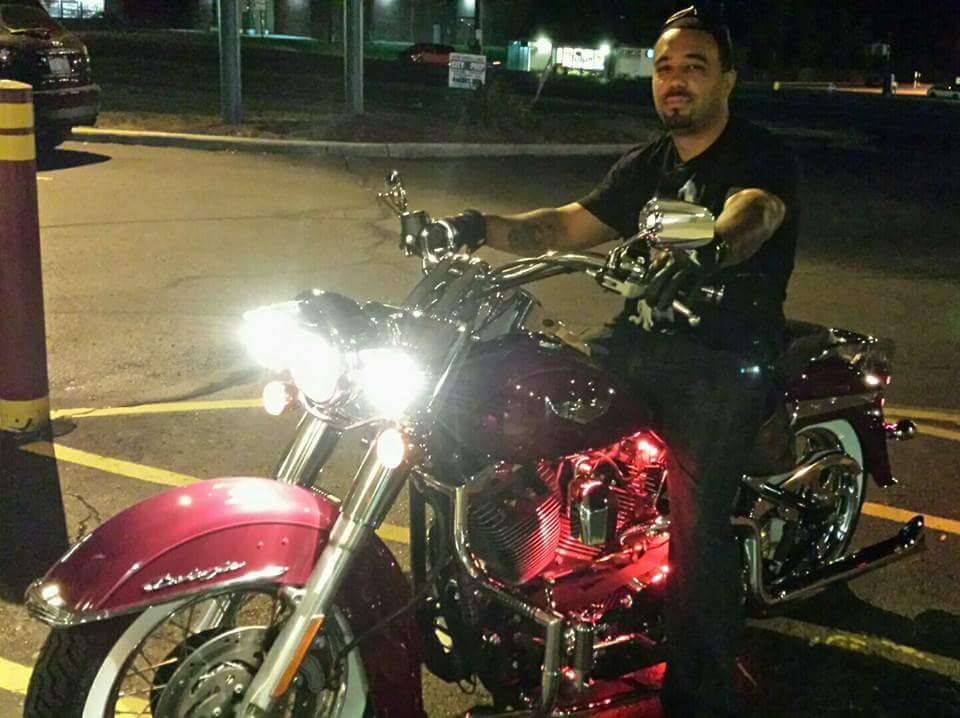 Cruising on a 2006 Harley Softail Deluxe