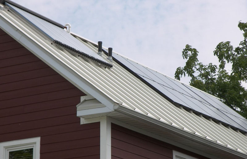 Solar panels on Homeport's certified LEED Gold home, the first of its kind in the Midwest