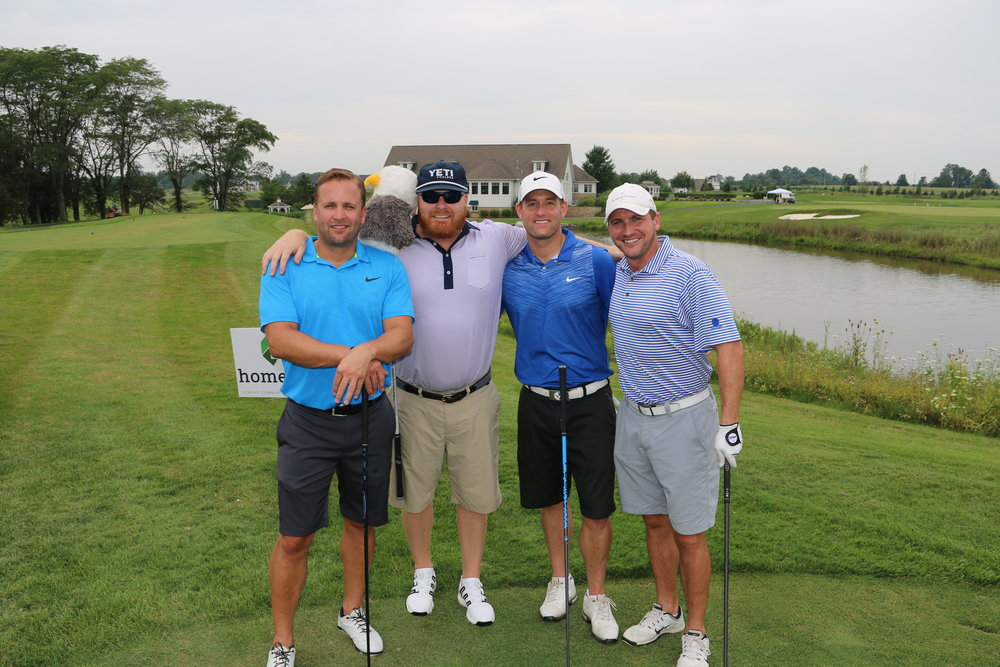 The winning team of the 5th Annual CCIIR scamble golf tournament benefiting Homeport.