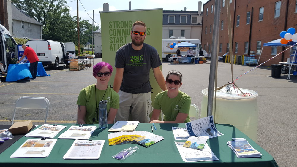 Homeport Resident Services team members Jill Guinan, Lawrence Furst II and Maggie Wilson participated in the 5th Annual Impact Ohio Beat The Heat event on July 7, promoting energy assistance programs. Homeport residents are beneficiaries of one-time energy bill assistance through Homeport's partnership with Impact.