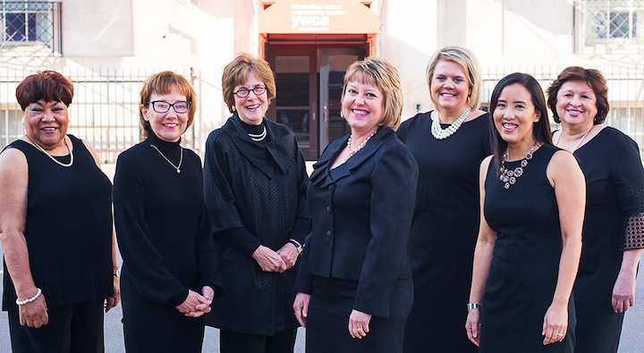 2018 YWCA Columbus Women of Achievement honorees. Maude Hill is on far left.