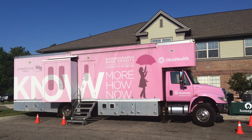 OhioHealth mammography truck visited Eastway Village in 2017.