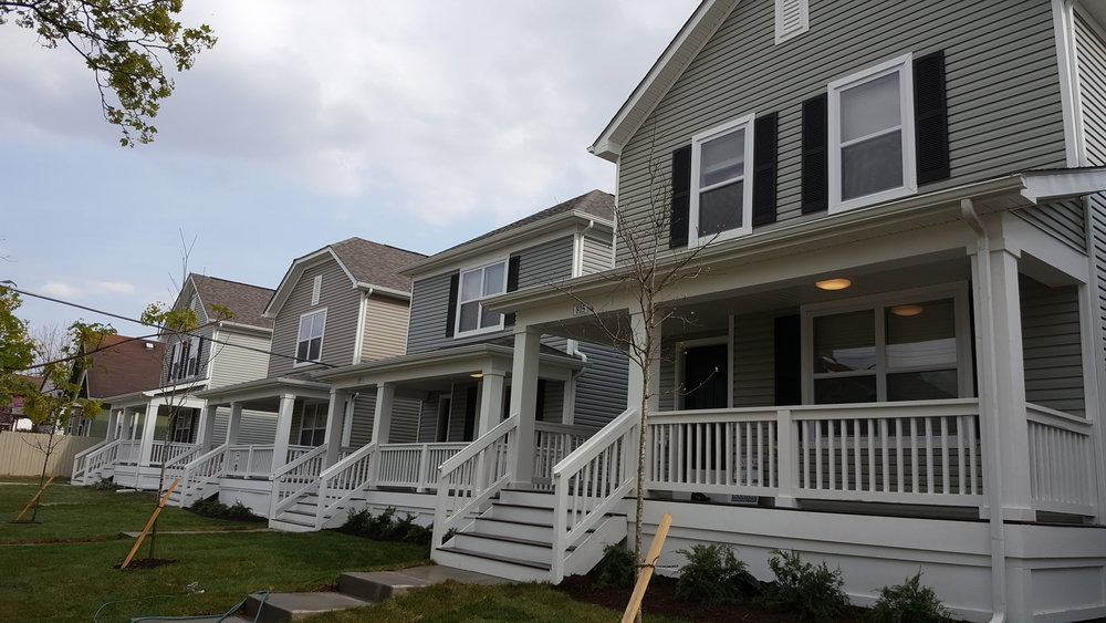 Energy efficient homes built on Leona Avenue.