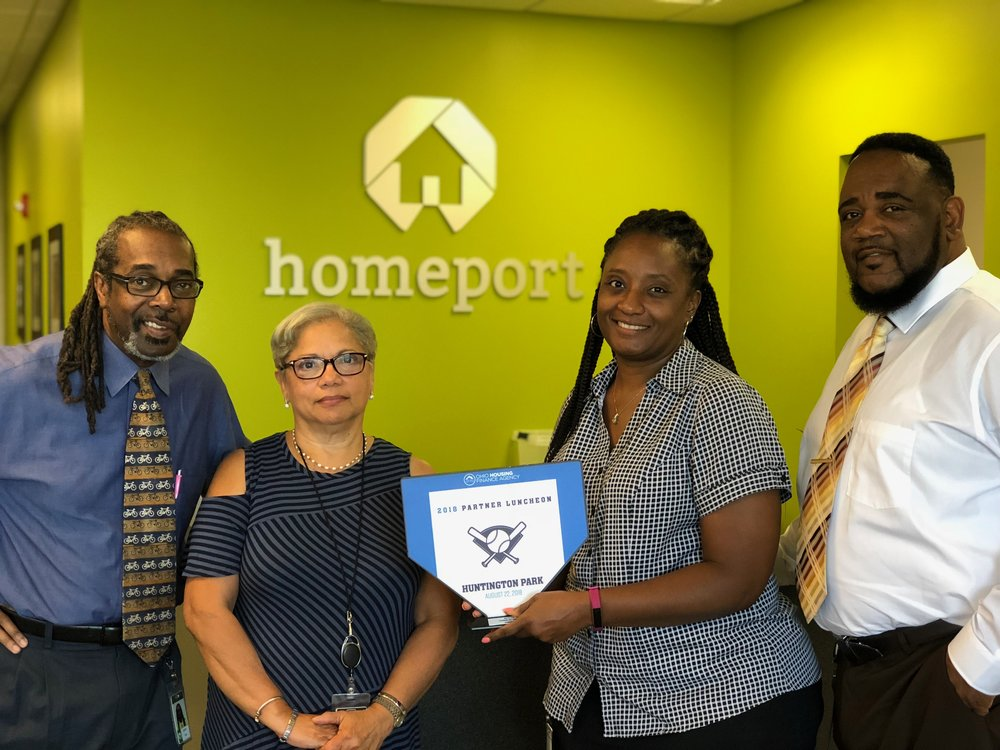Homeport's Housing Advisory Services' Layden Hale, Isabel Giles, Netta Whitman and Kerrick Jackson.