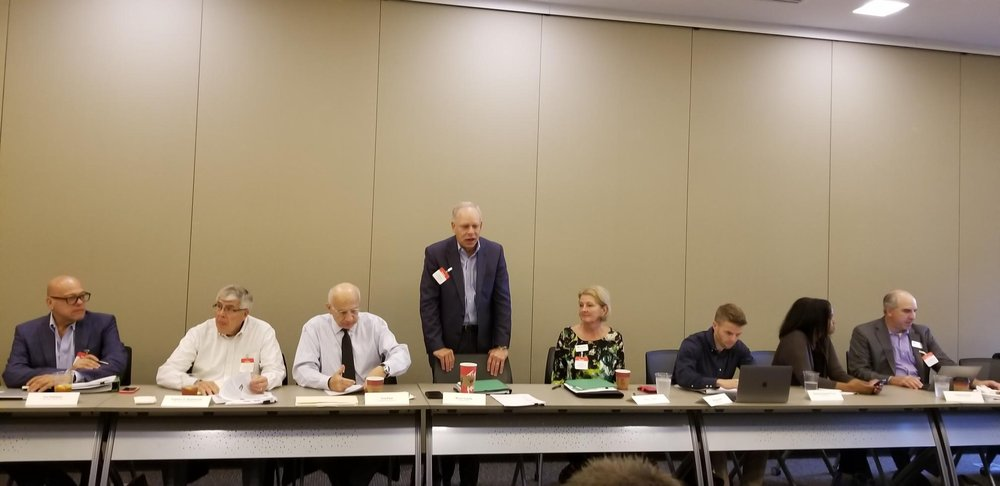 Opening remarks at Homeport Board retreat. OSU Fisher College of Business Professor Dr. Tony Rucci is third from left.