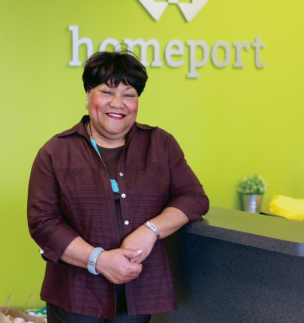 Homeport Senior Vice President Maude Hill.