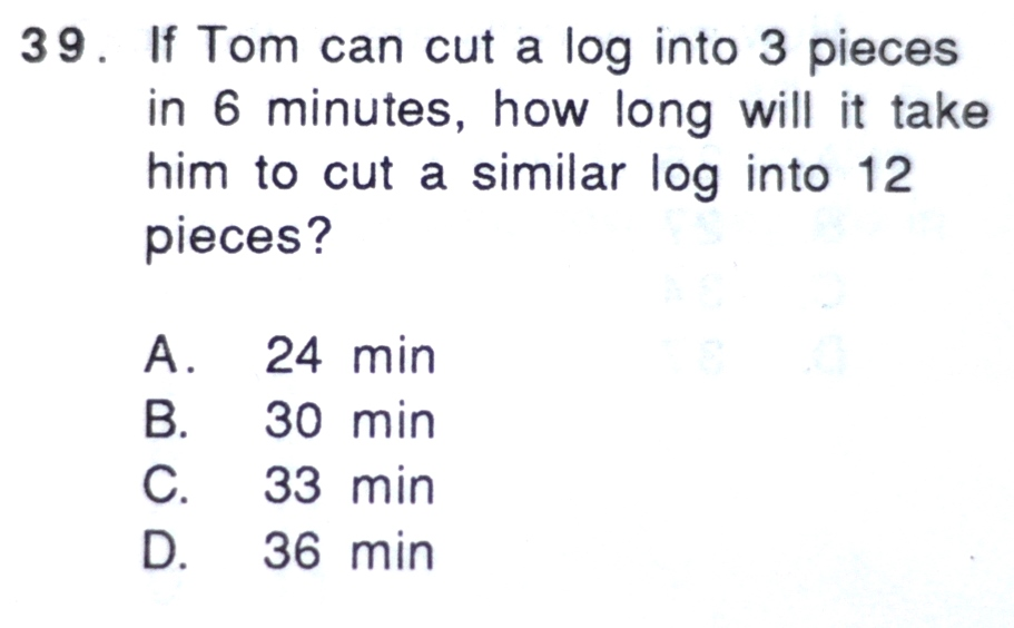 Simple problem solving questions