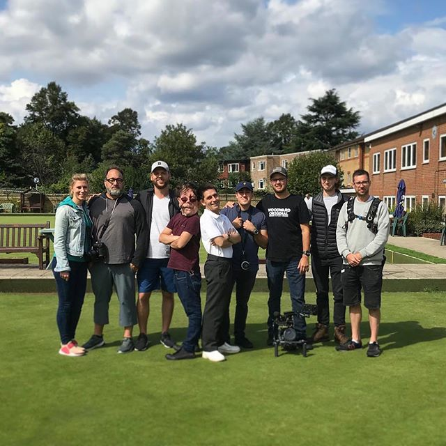 The 🇬🇧 crew team photo [📷: @tanamihq] ・・・ At least we made the best of yesterday's ☀️ as the heavens open today #Crew #BankHoliday #Filming #Bowls #Teamwork #Shoot #Documentary #SundayShoot #Detroit #Croydon #London #Green #Hobby #BTS