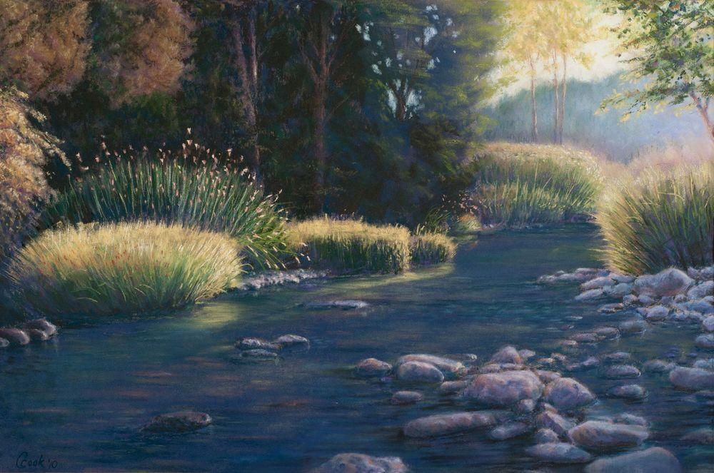 Oregon Sunset $915 - @ HowaGallery 801-232-5718