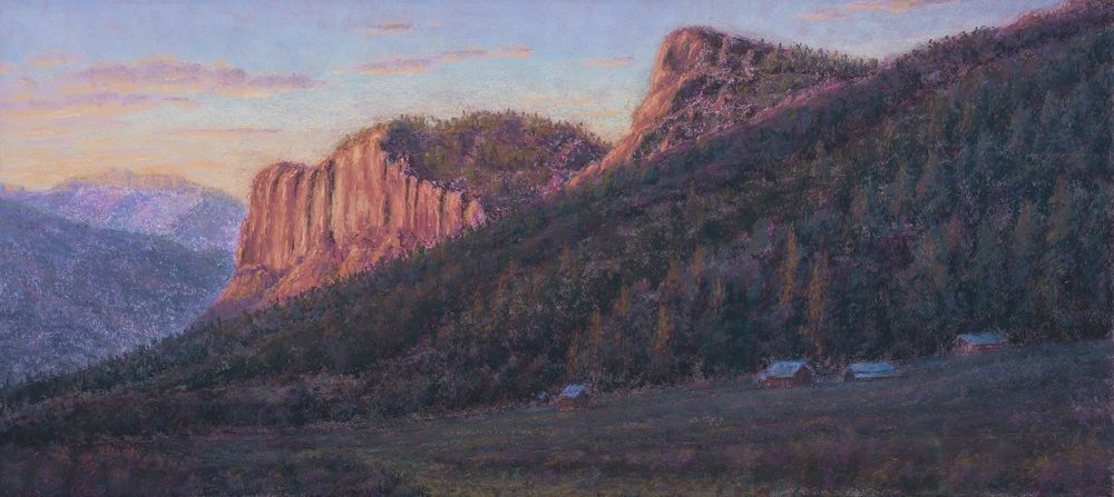 In the Shadow of the Mountain $1200 - @Artifacts Gallery 505-327-2907