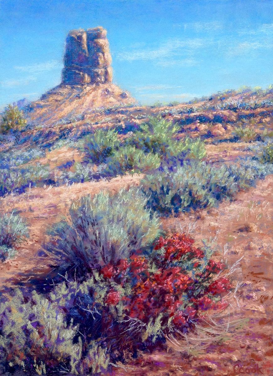 Sand, Sage, and Indian Paintbrush - $865