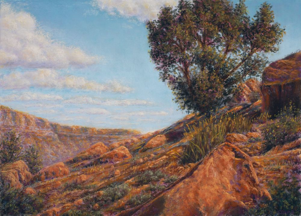 Lone Sentinel $1200 -@ HowaGallery 801-232-5718