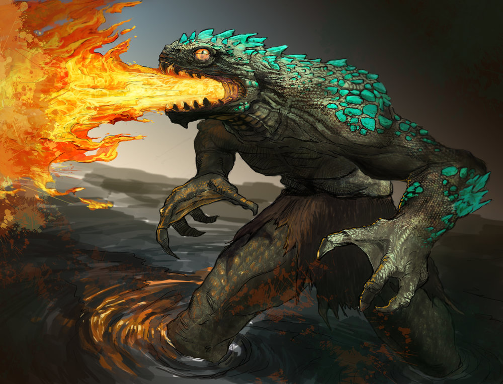 """Fire Breathing Lizard"""