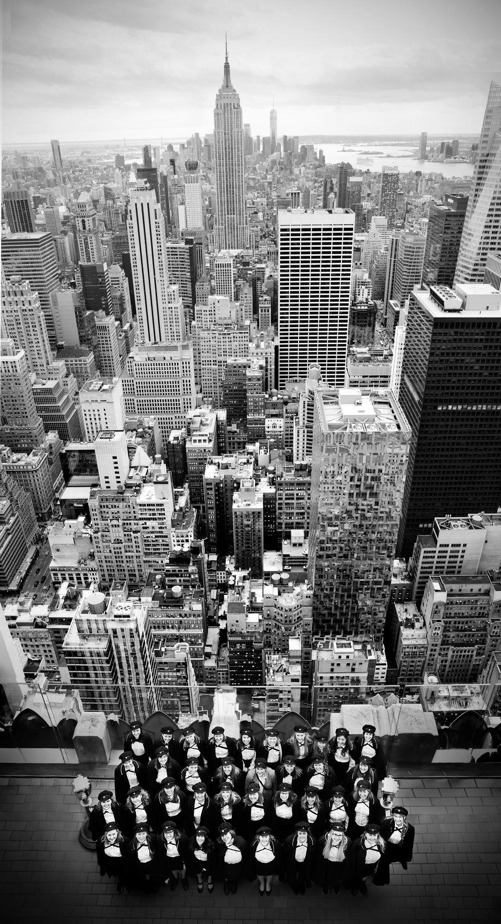 KSS på toppen av Rockefeller Center i New York, USA .  Photo: Anna-Julia Granberg / BLUNDERBUSS