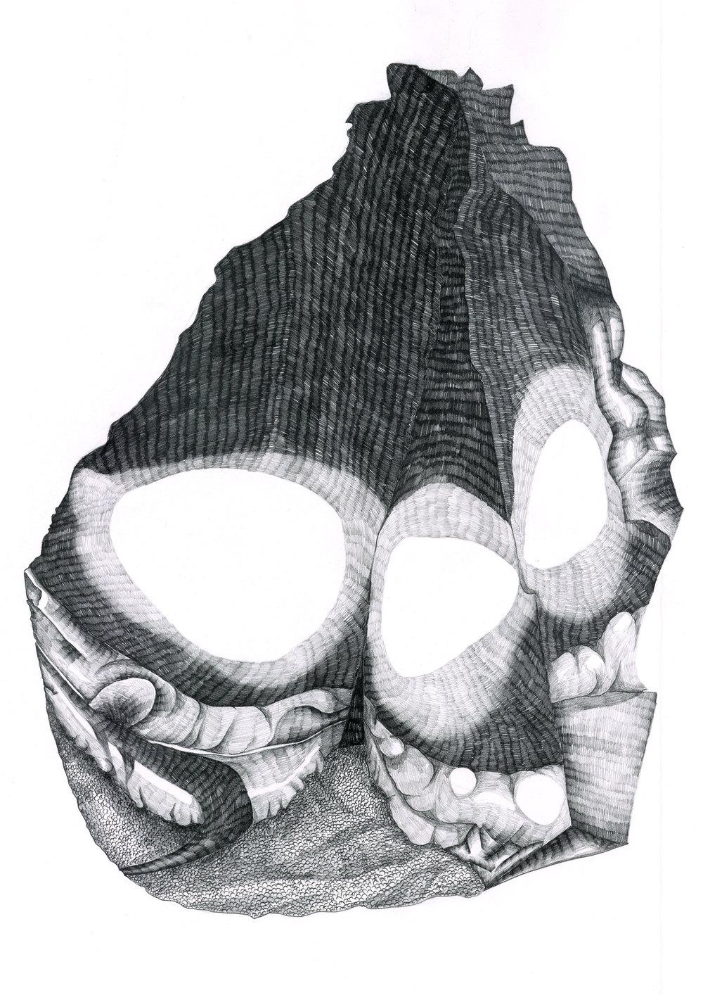 illustration af sten fra universet.