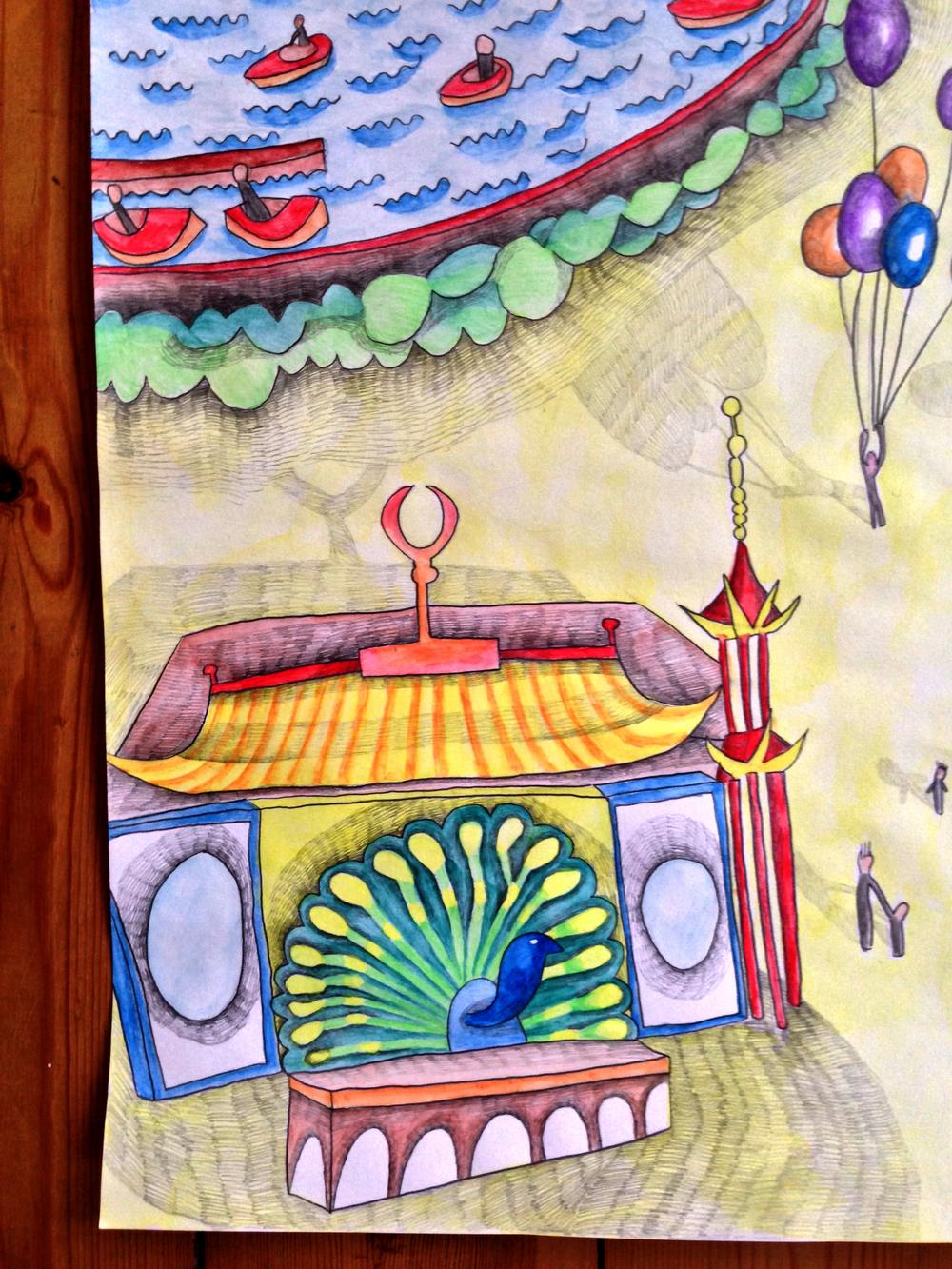Et lille udsnit af Tivoli og Pantomimeteatret