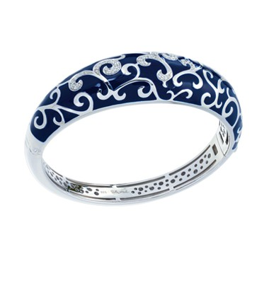 Royale Blue Bangle.  Exquisite enameling, sumptuous sterling silver, and magnificent bezel-set stones signify status and unparalleled class. This truly timeless collection is one of Belle Etoile's all-time favorites.