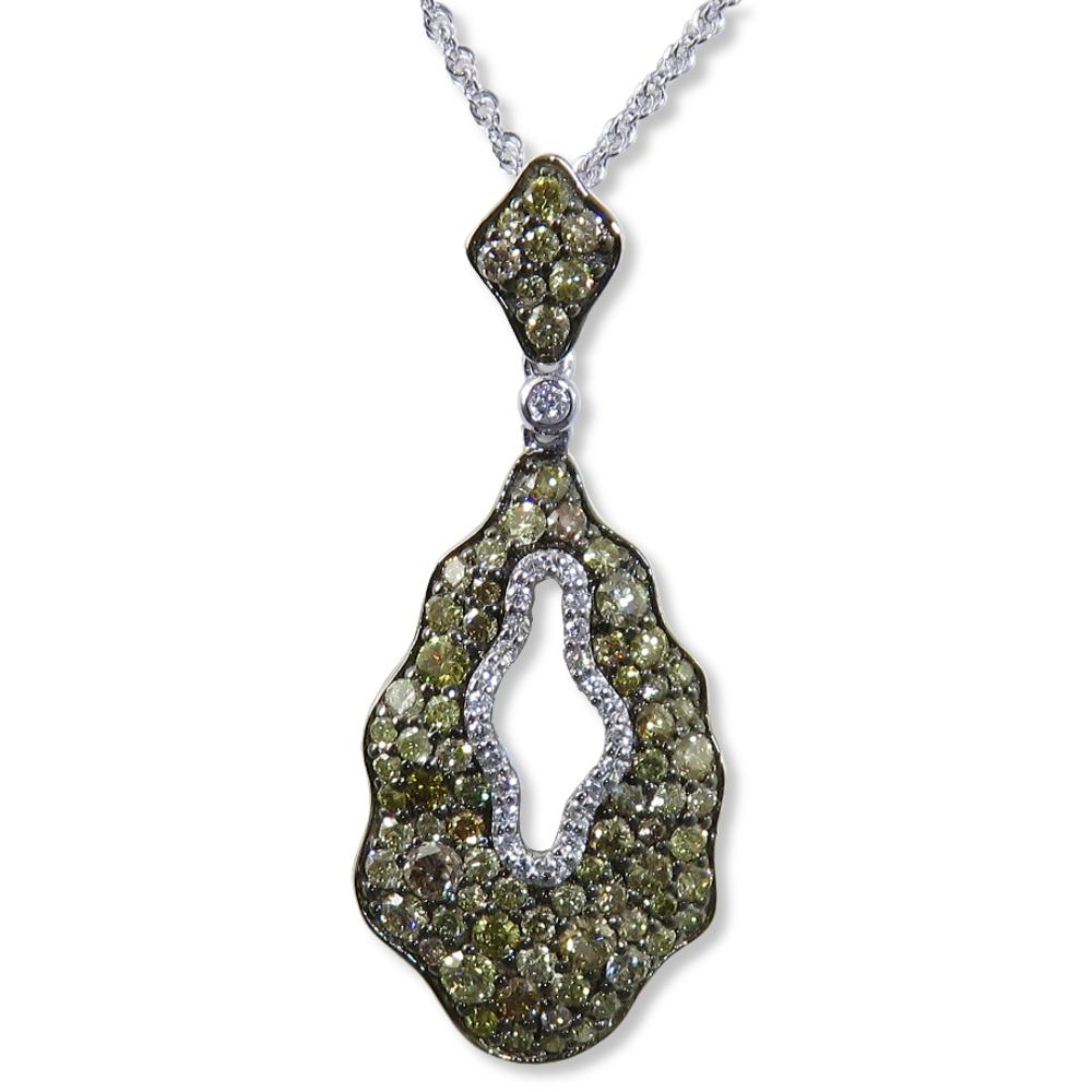Multi-colored diamond pendant. Allison KaufmanN7550