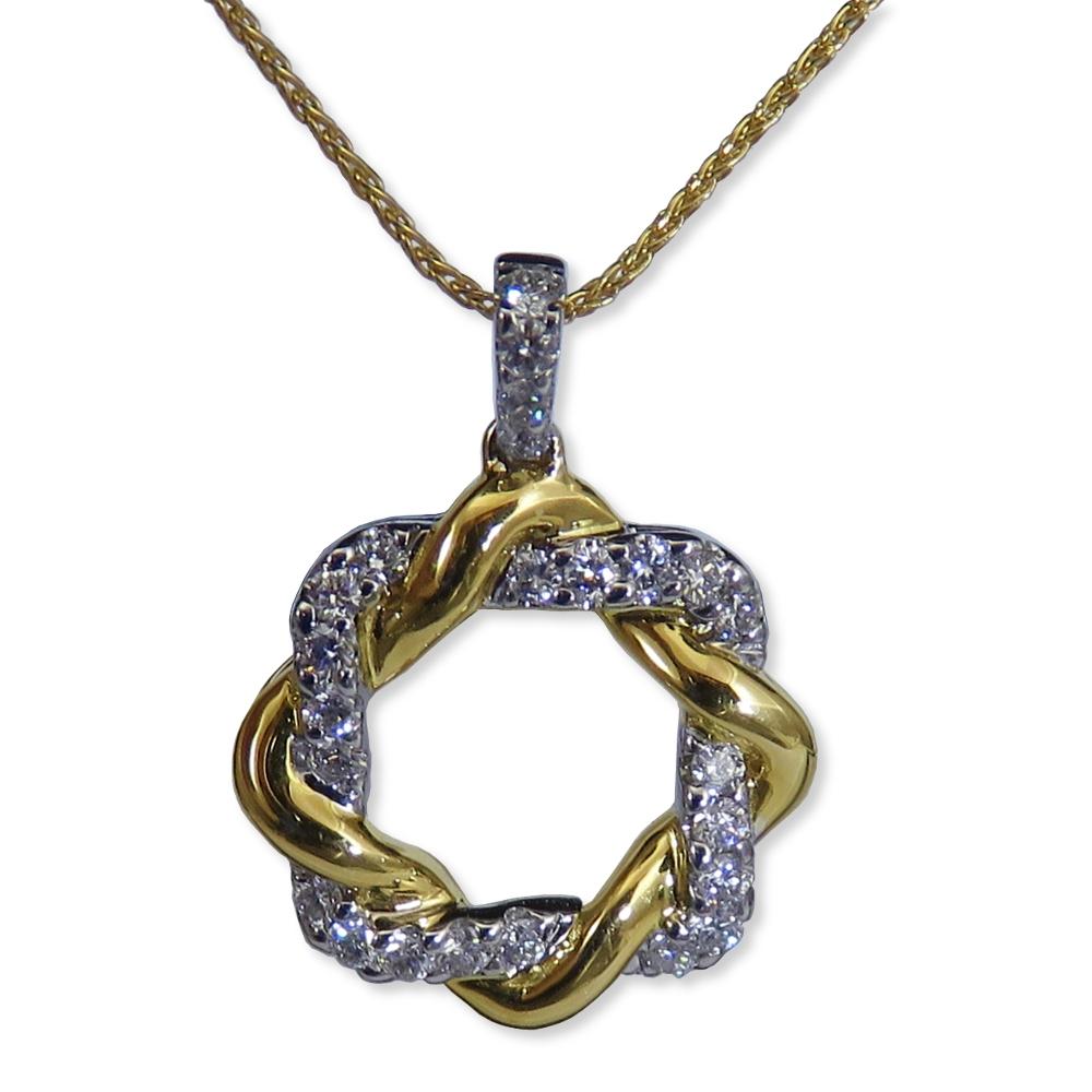 Two-tone diamond pendant. Gottlieb & Sons 28984B
