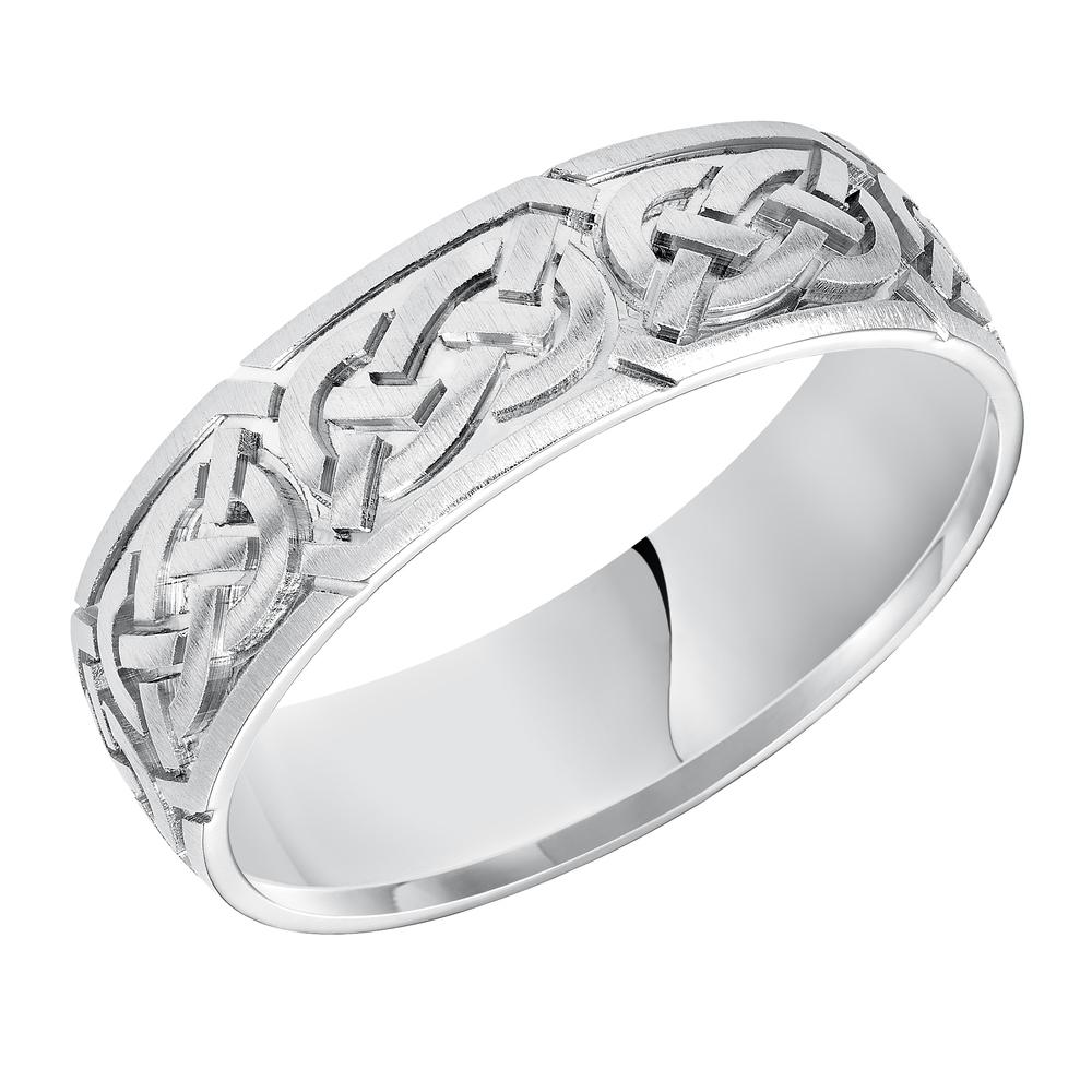 Celtic knot style wedding band. Fredrick Goldman Visions11-7159